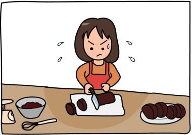 次女のバレンタイン(チョコケーキ作り)